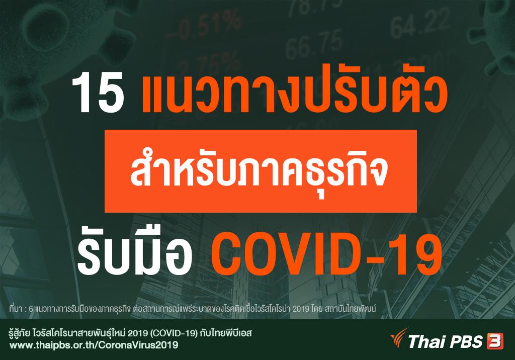15 แนวทางรับมือ COVID-19 สำหรับภาคธุรกิจ