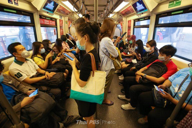 รถไฟฟ้าบีทีเอส ขอความร่วมมือสวมหน้ากากอนามัย