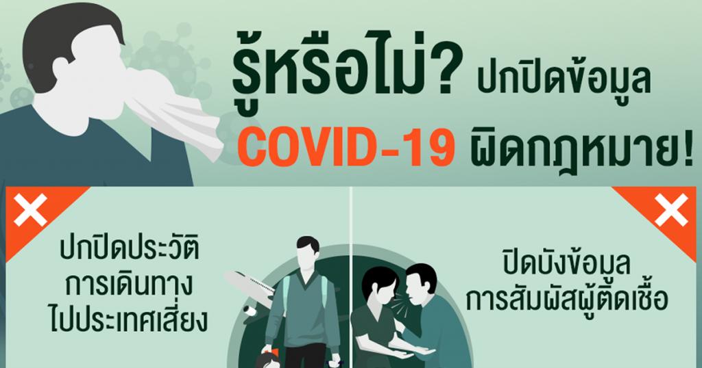 รู้หรือไม่? ปกปิดข้อมูล COVID-19 ผิดกฎหมาย