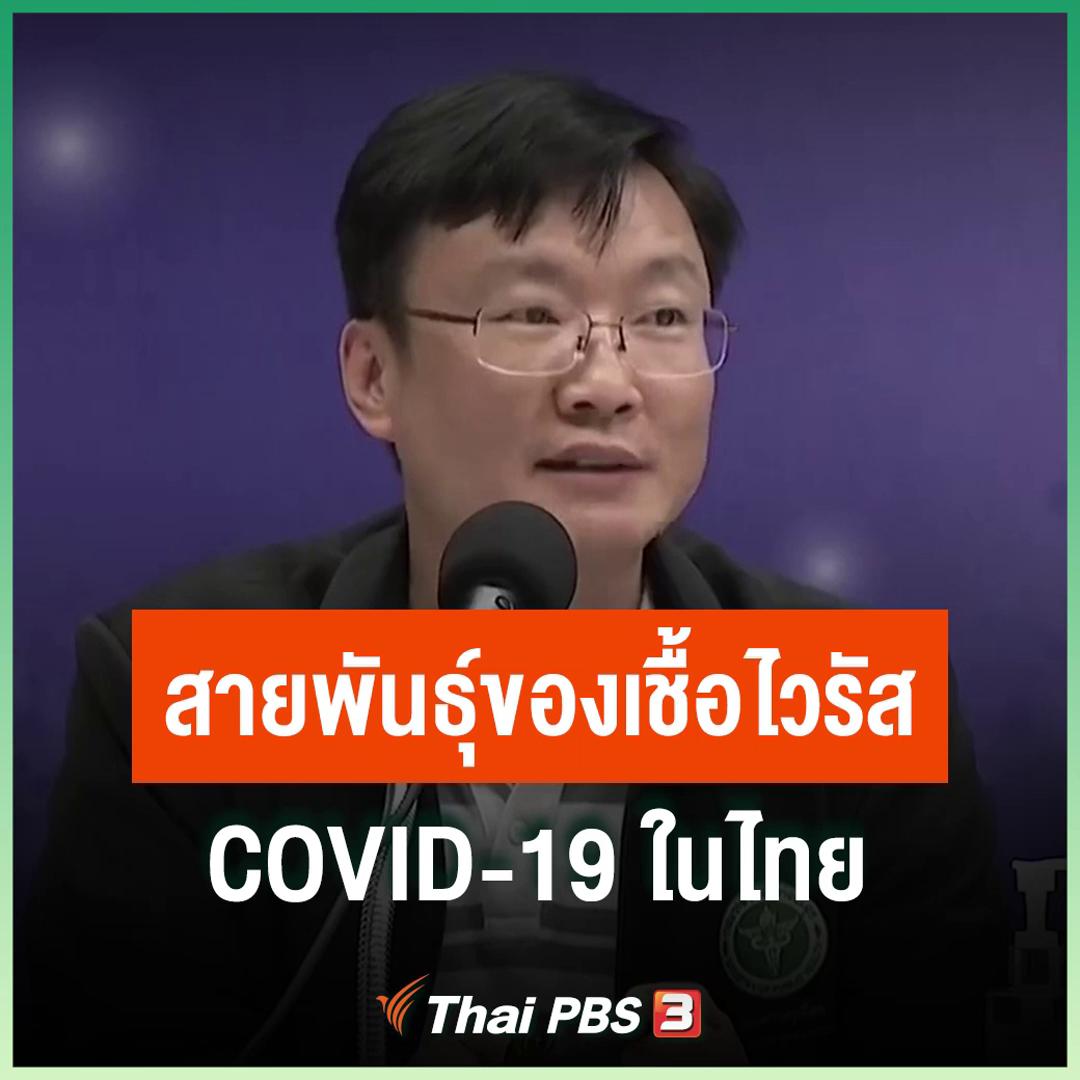 สายพันธุ์ของเชื้อไวรัส COVID-19 ในไทย