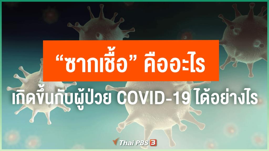 """""""ซากเชื้อ"""" คืออะไร ? สามารถเกิดขึ้นได้กับผู้ป่วย COVID-19 อย่างไร ?"""