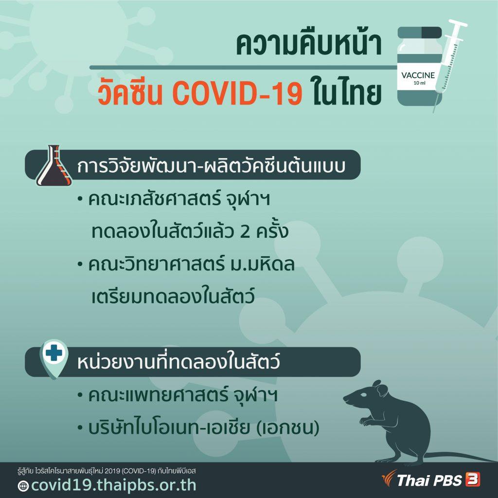 ความคืบหน้าการวิจัยพัฒนาวัคซีน COVID-19 ของไทย