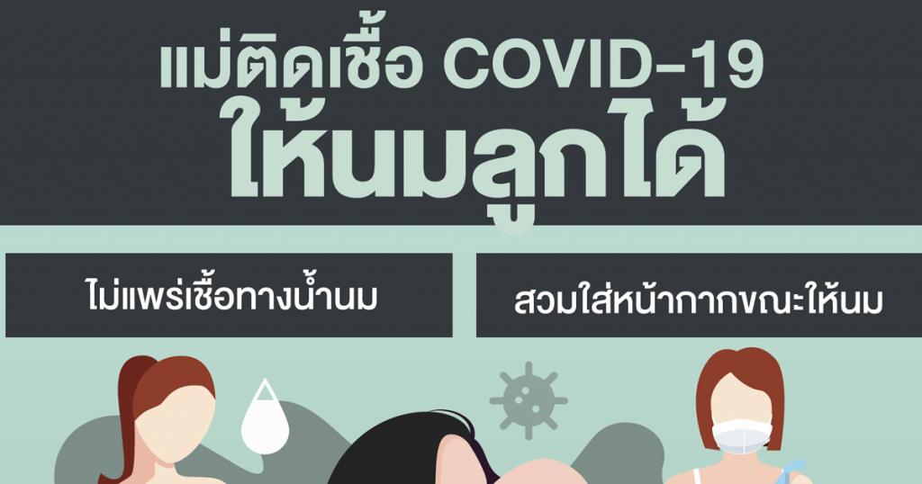 แม่ติดเชื้อ COVID-19 ให้นมลูกได้