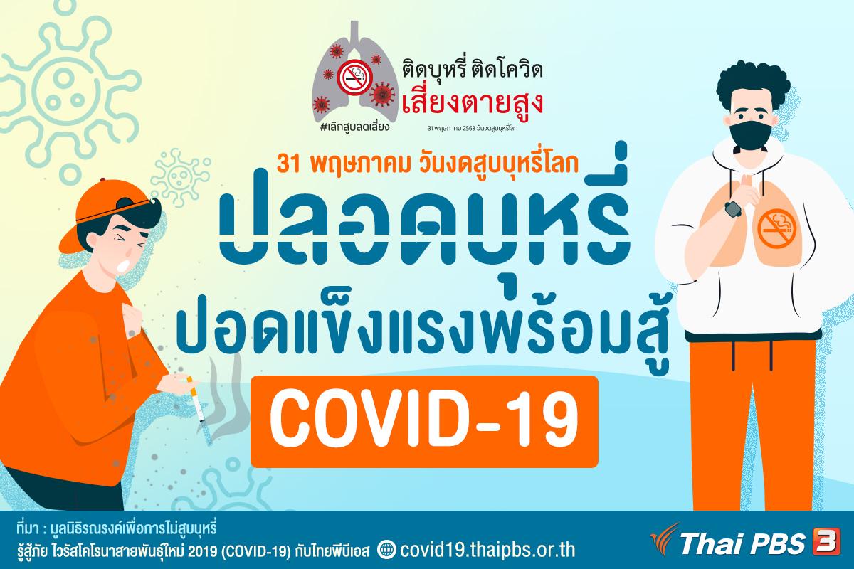 ปลอดบุหรี่ ปอดแข็งแรงพร้อมสู้ COVID-19
