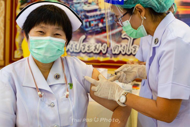 เริ่มฉีดวัคซีนป้องกันโควิด-19 ที่ จ.สมุทรสาคร   28 ก.พ. 64