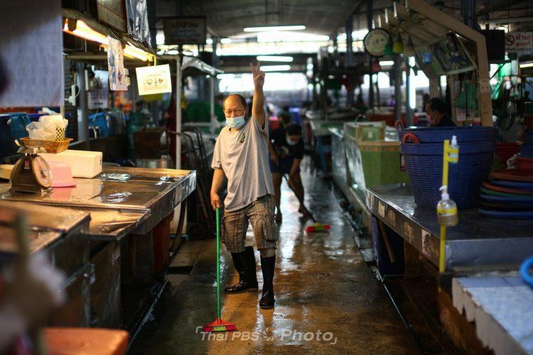 ผู้ค้าย่านตลาดบางแคร่วมใจ Big Cleaning Day | 16 มี.ค. 64