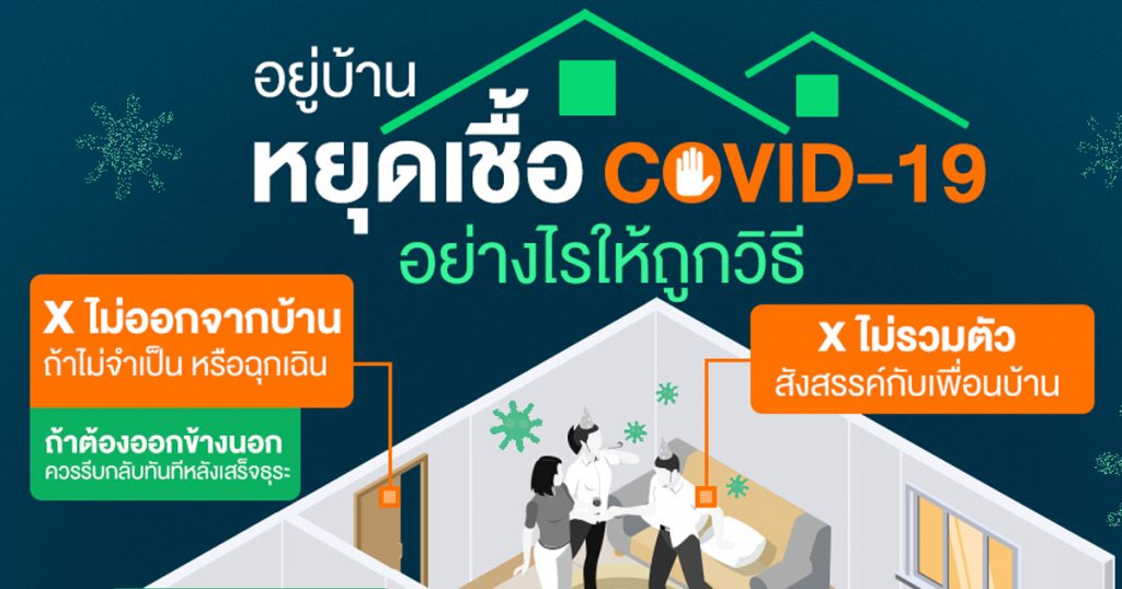 อยู่บ้าน หยุดเชื้อ COVID-19 อย่างไรให้ถูกวิธี